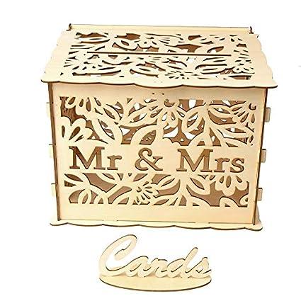 Amazon Com Yosemire Card Case Jm01377 Wooden Wedding