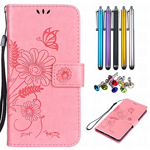 Yiizy Case Cover for Huawei P8lite / Huawei ALE-L21 Case, Sunflower Design Premium Leather Flip Cover Wallet Bumper Slim Lightweight Protective Shell Pouch with Media Kickstand Card Slots ()