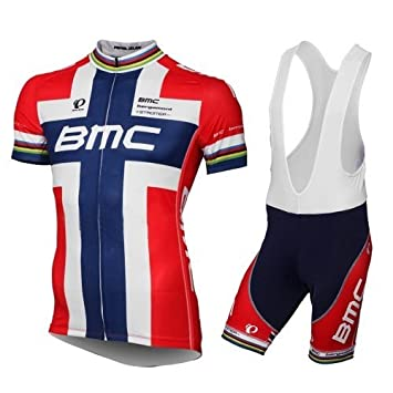 Team BMC Norway national champion Tour de France cycling jersey bib shorts  kit - size XL  Amazon.co.uk  Sports   Outdoors 774c19121