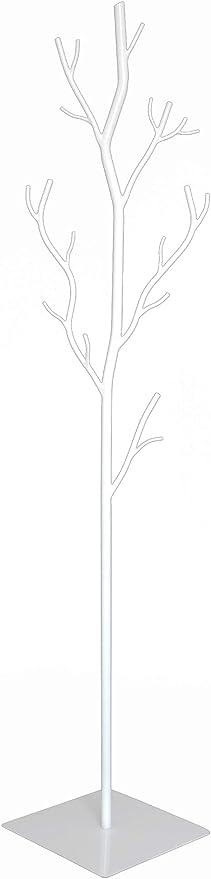 giordanoshop Appendiabiti da Terra 33x33x180 cm in Ferro Battuto Vasconi Platano Bianco
