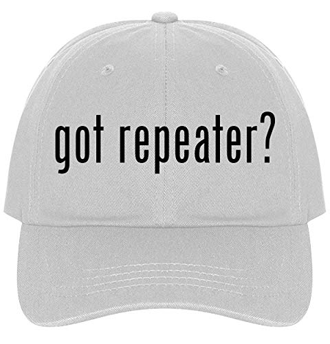 The Town Butler got Repeater? - A Nice Comfortable Adjustable Dad Hat Cap, White