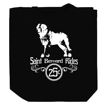 Saint Bernard rides Canvas Tote Bag