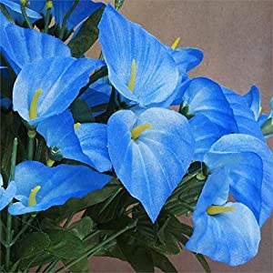 252 Mini Silk Calla Lilies Flowers Bushes for Wedding Bouquets Centerpieces (Royal Blue) 5
