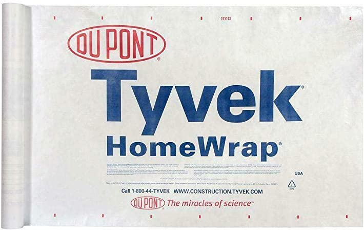 Dupont Tyvek Homewrap SOLD BY THE FOOT 9 ft wide with Anchor loops