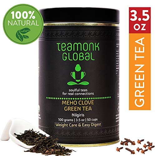 Nilgiri Fruit Clove Green Tea, 3.5oz (50 Cups) | Supports Weight Loss & Digestion | 100% Natural Clove with Whole Loose Leaf Green Tea | No Additives