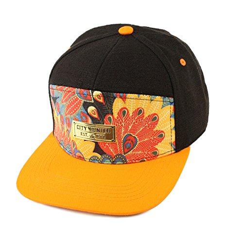 Men's Summer 100% Cool Cotton Peacock 7 Panel Snapback Cadet Cap Hat Navy