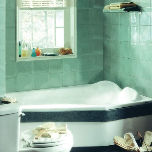 Corner Combo Air Whirlpool Tub - Neptune Venus Corner Mass-Air/Whirlpool Combo Tub-59-1/2