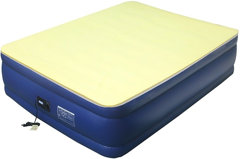 Airtek Flocked-top Full-size Air Mattress with 1-inch Memory Foam Mattress Topper 2ABF04005-M