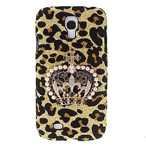 HOR Patrón de diseño de la corona Leopard estuche rígido con el Rhinestone para Samsung Galaxy S4 i9500
