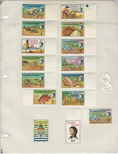 Cayman Islands Collection 1974-75, 331-345 Mint LH Set, Fish, Pirates