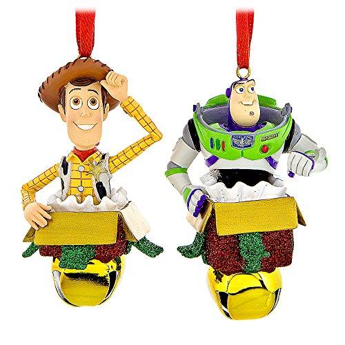 Disney Woody &Buzz Lightyear Figural Ornament Set (Bell Figural)