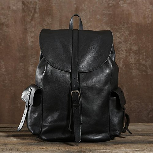 Handmade Genuine Leather Backpack Travel Backpack School Backpack in Black and Brown by Jellybean Gorilla