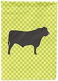 Caroline's Treasures BB7654CHF Black Angus Cow Green Canvas House Flag, Multicolor