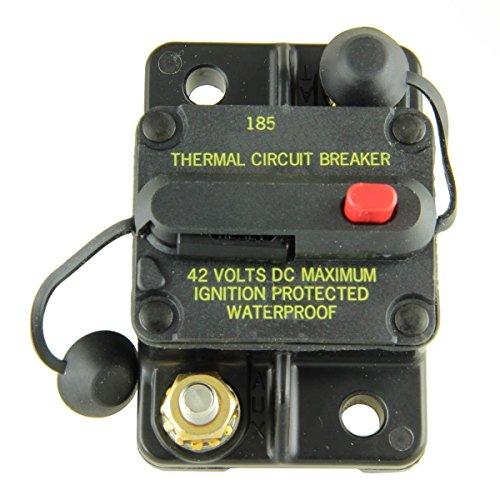 Chrome Flush Type - Bussmann BP/CB185-135 Waterproof High Amp Flush Mount Type III (3) Circuit Breaker (135 Amp), 1 Pack