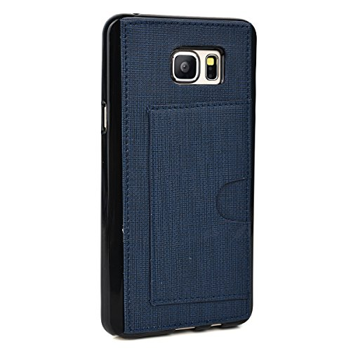 - Kroo Cell Phone Case with Card Holder for Samsung Galaxy Note 5 - Non-Retail Packaging - Navy Blue