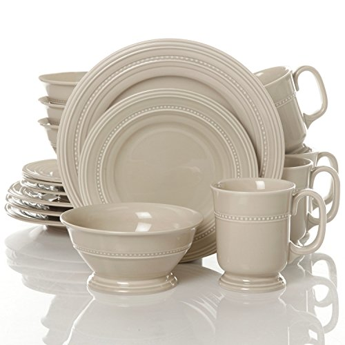 Gibson Barberware 16 Piece Dinnerware Set, Cream