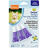 Hartz UltraGuard OneSpot Flea Egg and Larvae Treatment - Cats and Kittens - 0.03 oz - Pack of 3