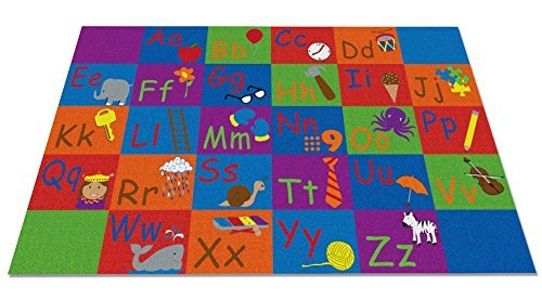 Kid Carpet FE790-44A All In A Row Letter Nylon Area Rug 7'6 x 12' Multicolored [並行輸入品]   B07HLFZGF7