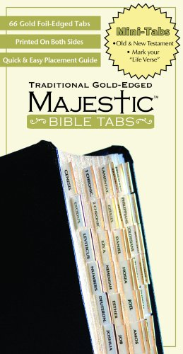 Majestic Traditional Gold Bible Tabs, Mini (Majestic Bible Tabs (Mini)) cover
