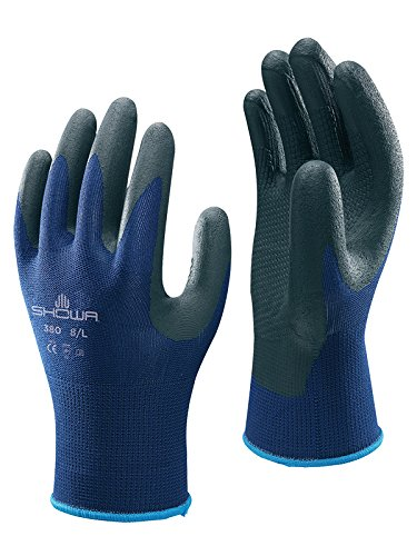 SHOWA Atlas 380 Patented Waffle Pattern Foamed Nitrile Palm Coating Glove, Large (Pack of 12 Pairs) by SHOWA (Image #5)