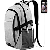 Laptop backpack for men women back pack waterproof college computer daypacks teenagers's travel bagpacks with external USB Charging Port & built-in USB Charging Cable business backpacks For Sale