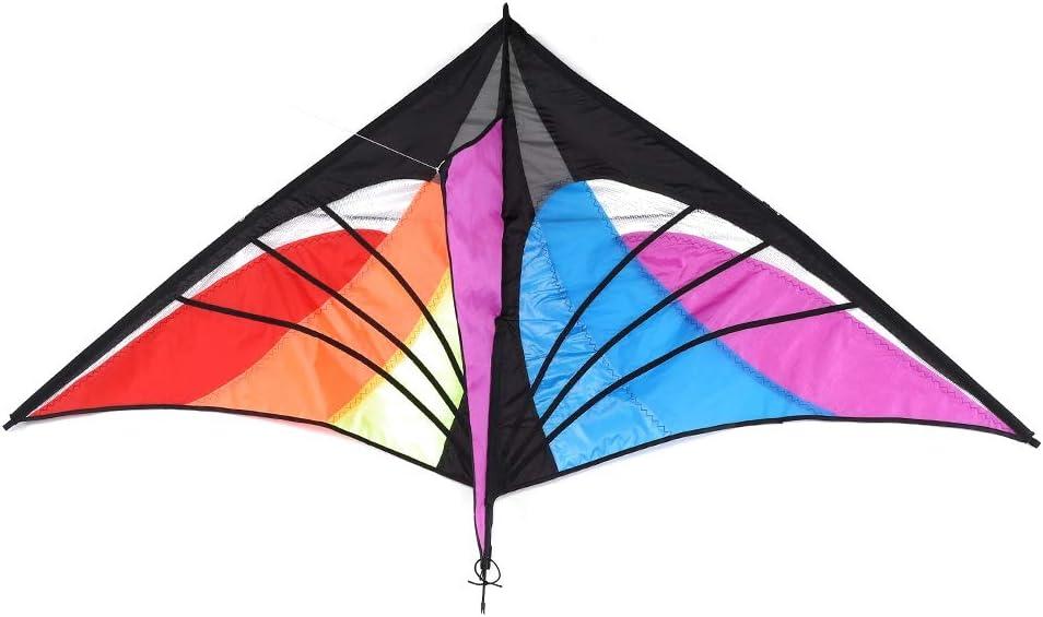 GOTOTOP Kit cerf-Volant color/é /à Ailes Larges pour Jeux en Famille en Plein air avec Ligne de 30 m