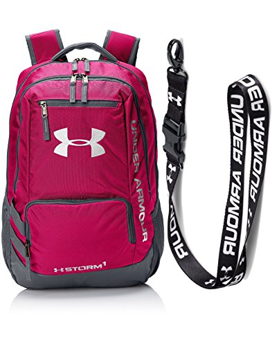 Under Armour UA Hustle Backpack II, Tropic Pink with UA Undeniable Lanyard (Under Armour Y Backpack)