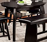 triangular dining table Furniture of America Morley Pub Dining Table, Black