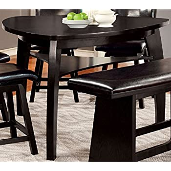 Furniture Of America Morley Pub Dining Table, Black