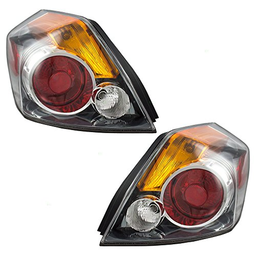 Driver and Passenger Taillights Tail Lamps Replacement for 07-12 Nissan Altima Sedan 26555-ZN50A 26550ZN50A ()