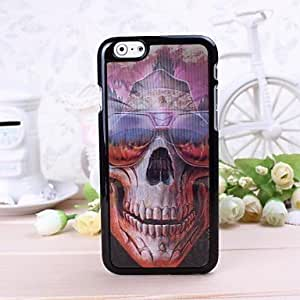 3D Skull with Glasses Pattern Plastic Hard Case for iphone 6 plusd 5.5