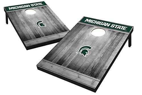 Wild Sports 2'x3' MDF Wood NCAA College Michigan State Spartans Cornhole Set