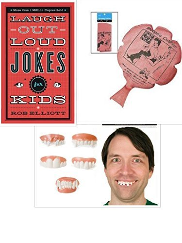 Jokes and Pranks for Kids Gift Bundle with Laugh Out Loud Jokes Gnarly Teeth and Whoopee Cushion Mixed Brands