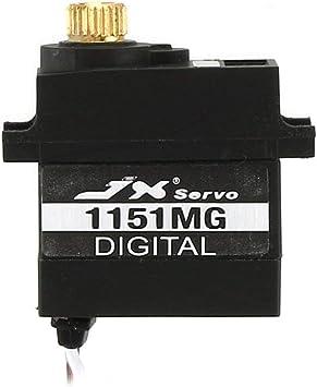 JX PDI-1151MG Servo Impermeable 15 g 3,6 kg Metal Gear Servo Digital sin núcleo 180 Grados TRX4 WPL RC Car B1/16 B24 C14 C24 Glider Remo Hobby Smax ...