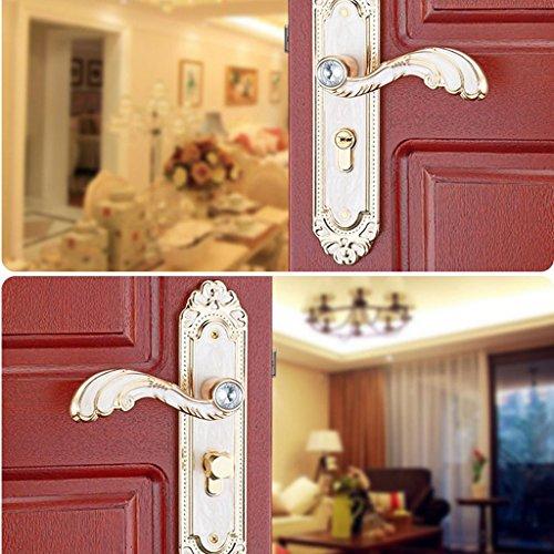 Baoblaze Aluminum Door Handle Sets Lever LATCH LOCK BEDROOM BATHROOMPRIVACY PACKS #2 by Baoblaze (Image #5)