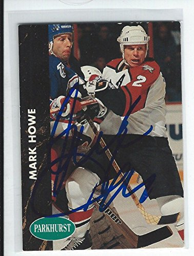 Mark Howe Signed 1991/92 Parkhurst Card #130 - Hockey Slabbed Autographed Cards -