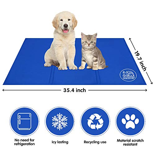 Bravpet Pet Cooling Mat Pet Self cooling pad mat bed mats Comfort for Cats and Dogs Large by Bravpet (Image #3)