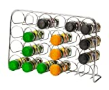 Hahn ZA4-71024 Pisa 24-Jar Chrome Spice Rack