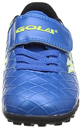 Gola Talos Vx Velcro, Zapatillas de Fútbol Unisex Niños Azul (Blue/black/volt)