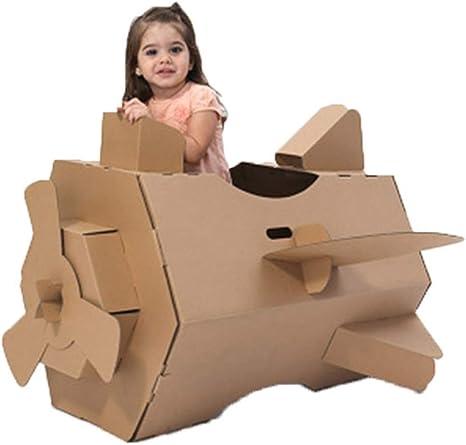 Casas de juguete Caja De Cartón De Color Tienda De Ensamblaje De Empalme para Niños Juguetes De Cartón para Niños Tanque Modelo Papel Cartulina DIY Hecho A Mano Regalo: Amazon.es: Hogar
