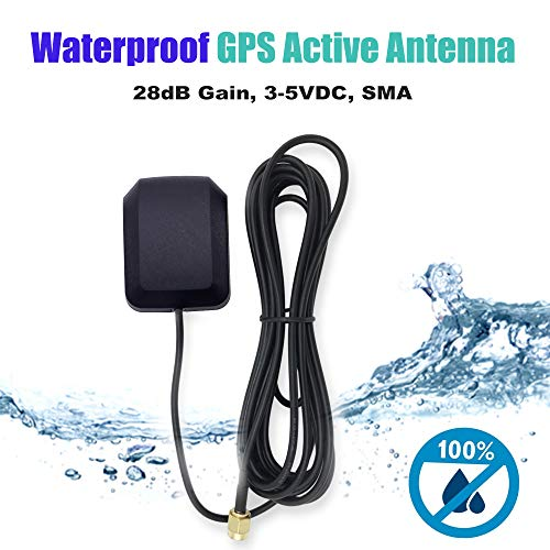 Waterproof Active GPS Antenna - GPS Receiver Antenna Magnetic Mount GPS Antenna with SMA Connector