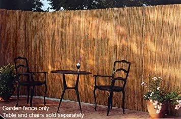 Garden Fence Reed Peeled And Polished In Natural Bamboo 6ft X 16ft