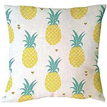 ME COO Hand Painting Fruit Pineapple Ananas Decorative Cushion Cover Pillowcase Decorative Linen Cotton Sofa Pillow Covers 45x45cm (ME-BZX-181)