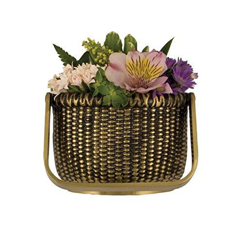Nantucket Basket Door Knocker - Brass (Premium Size)