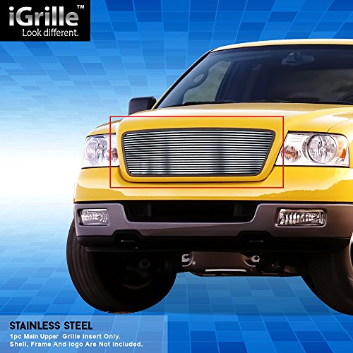 Off Roader Stainless Steel eGrille Billet Grille Grill for 04-08 Ford F-150 Honeycomb Style Insert -