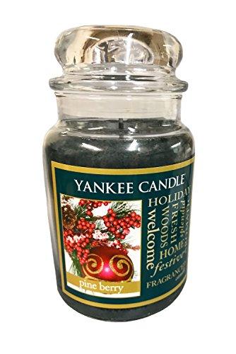 Pine Berry Single Wick Holiday Candle Glass Jar 22 oz