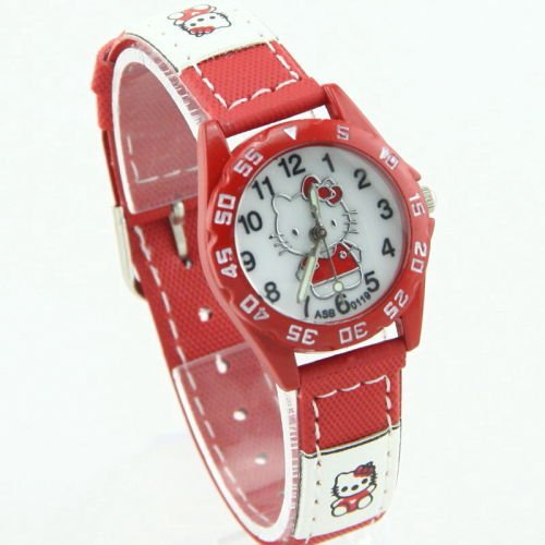 Hello Kitty - Super Cute Sport Style Wrist Watch (Red) (Best Hello Kitty Presents)