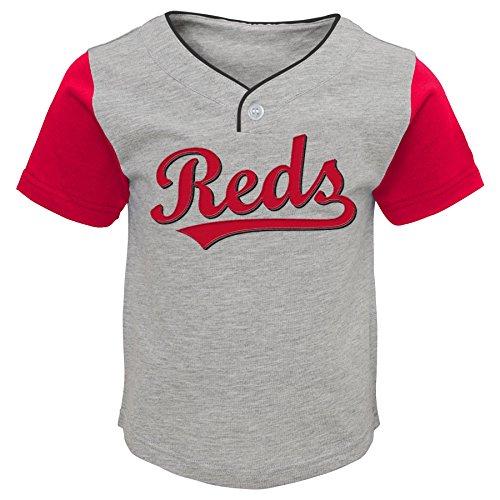 MLB Cincinnati Reds Toddler Boys Batting Practice Short Set-4T, Heather Grey