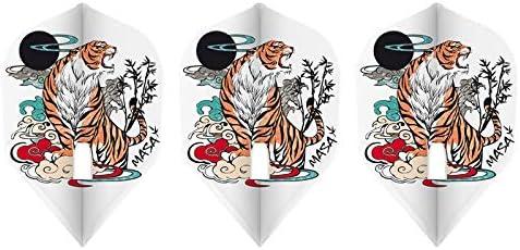 ダーツ フライト L-style 【エルスタイル】 マサ・ルイ ver.1 PRO ホワイト シェイプ (Masa Lui ver.1 PRO White L3c) | シャンパンリング対応フライト