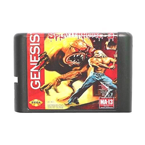 (The Crowd Tradensen Sega Md Game Card - Splatterhouse 3 for 16 Bit Sega Md Game Cartridge Megadrive Genesis System)